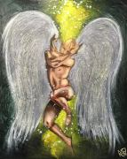 Angel Of Love Original Painting by Artist Rafi Perez