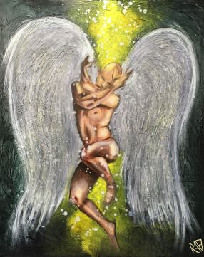 Angel Of Love Original Painting by Artist Rafi Perez