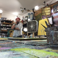 Rafi Perez in his art studio