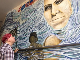 Rafi Perez Working On Pensacola Mural