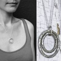 Sterling Silver Nesting Circles Necklace