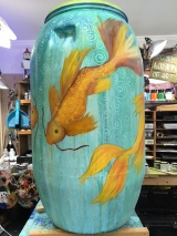 Eco Nomic Living Expo Rain Barrel Art