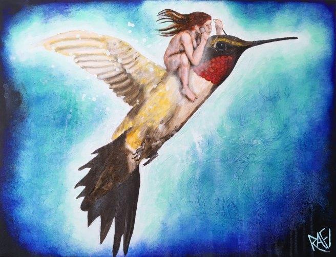 Flight Of The Hummingbird By Rafi Perez