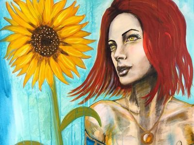 Amber Sunflower By Rafi Perez